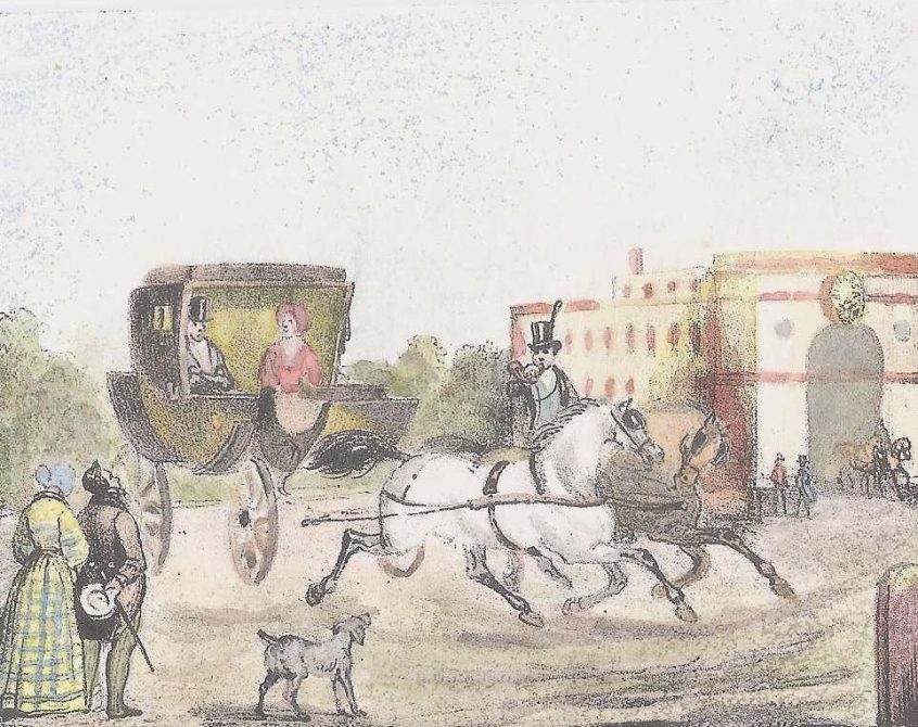Diligenza postale del XIX secolo