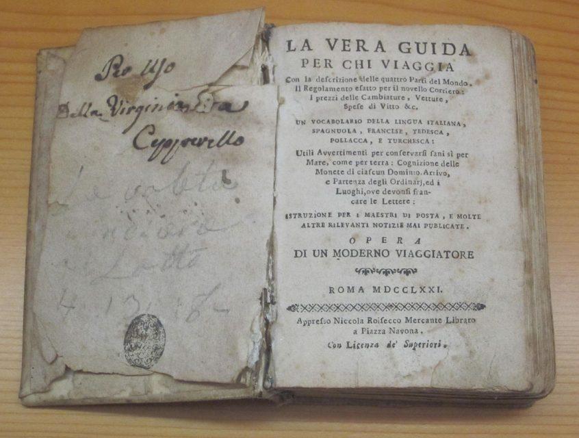 Guida di viaggio del 1771