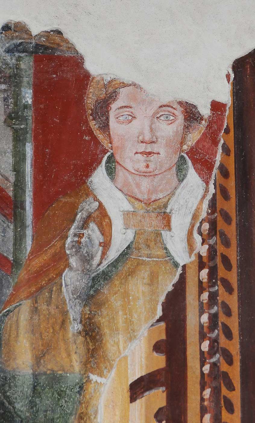San Ludovico di Tolosa affrescato nella chiesa a lui dedicata