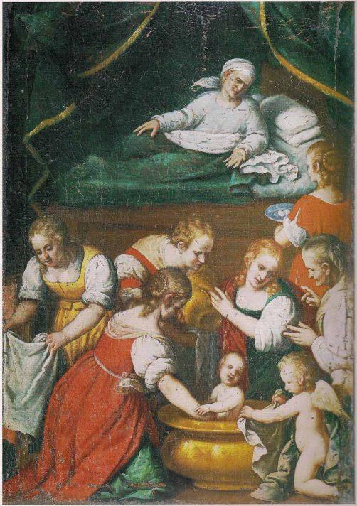 """Carlo Ceresa, """"Natività della Vergine"""" nella chiesa di Oneta"""