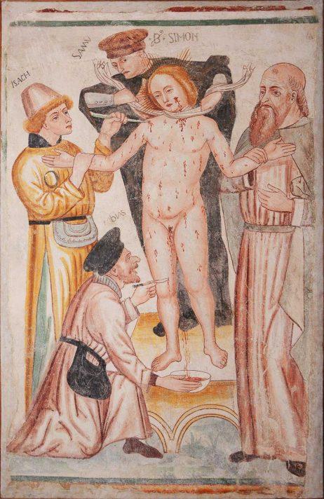 Affresco del martiririo di San Simonino da Trento - ph. Tarcisio Bottani