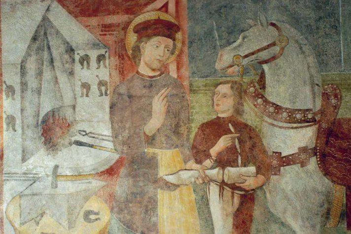 Affresco di Sant'Eligio nella chiesa dei Santi Cornelio e Cipriano