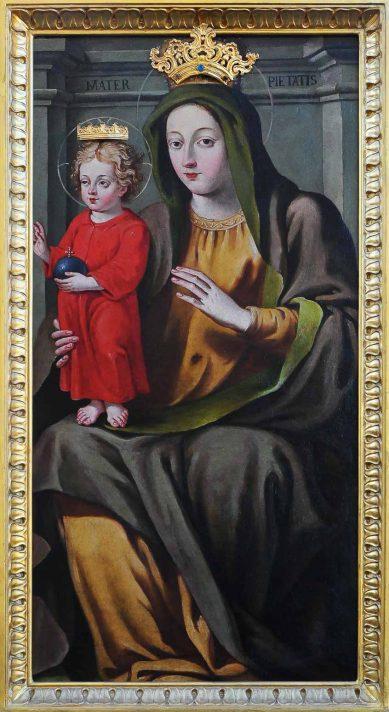Quadro della Madonna della Pietà nella chiesa di Pianca