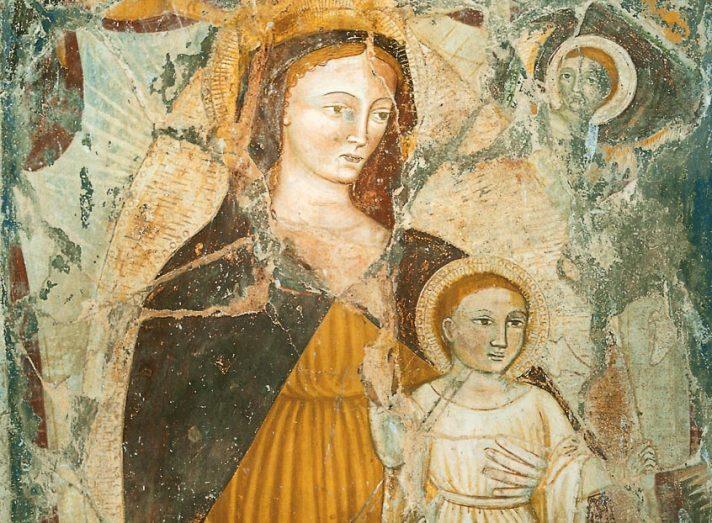 Affresco del XV secolo nella chiesa di Oneta