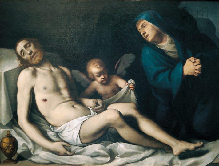 """Carlo Ceresa, """"Pietà"""", XVII secolo nella chiesa di Sentino"""